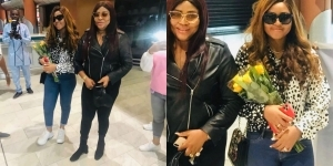 I'm enjoying the fruit of my Labour – Regina Daniels flies her mom to South Africa for her birthday celebration (Video)